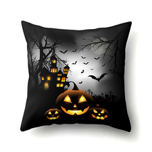 Pillowcase Halloween Pumpkin  Polyester Home Decoration Ghost Witch Pattern Cushion Suite Accessories Bench Cushions