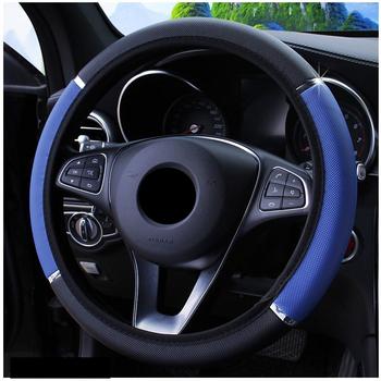 Antypoślizgowe PU skórzane pokrowce na kierownice do Renault Megane 2 3 Duster Logan Clio 4 3 Laguna 2 Sandero Scenic 2 Captur tanie i dobre opinie Faux leather Kierownice i piasty kierownicy 38cm steering wheel cover four season