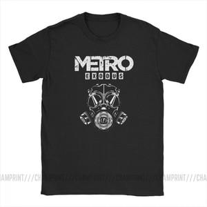 Image 2 - Men T Shirt Metro Exodus T Shirts Gas Mask Toxic Games Gaming Artyom Haunter Short Sleeves Tees Round Neck clothing Pure Cotton