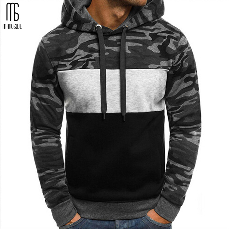 Manoswe Autumn Winter Casual Camouflage Hoodies Men Pullovers 2019 Military Sweatshirts Plus Size 3XL Male Youth Trend Outwear