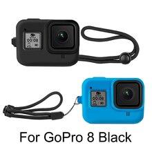 Yumuşak silikon kılıf GoPro Hero 8 siyah koruyucu tam kapak kabuk git Pro kahraman 8 eylem kamera aksesuarları