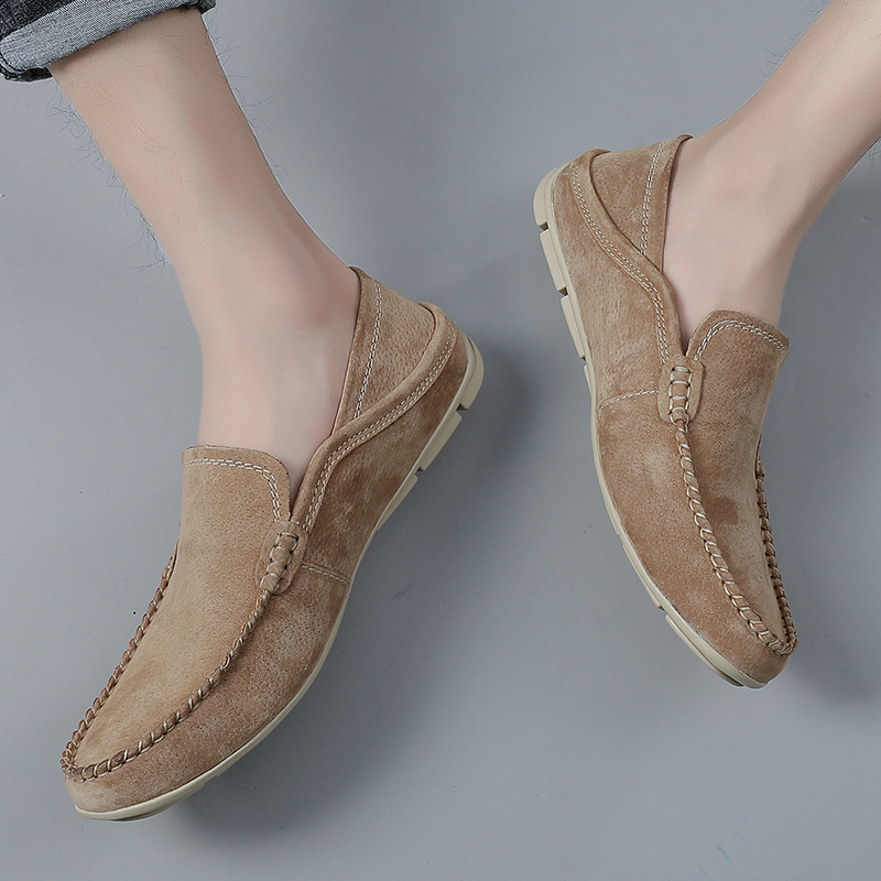 Moccasins Men Loafers Shoes Breathable Male Flats Suede Leather Casual Boat Walking Driver Footwear Driving Moccasin Men Soft
