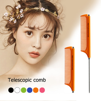 1 Pcs Metal Pin Rat Tail Comb Telescopic Comb Cutting Hair Comb Hairdresser Hair Styling Tools Fine-tooth Combs Sharp Tail Comb цена 2017