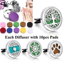 New Tree of Life Car Perfime Diffuser Clip Lockt Pendant Necklace 316L Stainless Steel Snowflake Aromatherapy Jewelry