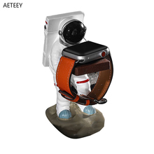 Spaceman Resin Handicraft Watch Bracket Apple Watch HUAWEI XIAOMI Samsung Watch Creative Ornament Watch Table Modified Charging