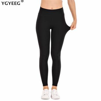 YGYEEG Push Up Leggings Women's Legging Fitness Black Leggins Sexy High Waist Legins Workout Plus Size Leaf Pattern Jeggings 1