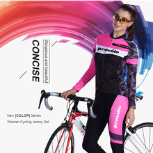 цена на Cycling Jersey Set Women Long Sleeve Cycling Clothing Breathable Mesh Fabric MTB Bike Jersey Road Bicycle Mujer Ropa Ciclismo