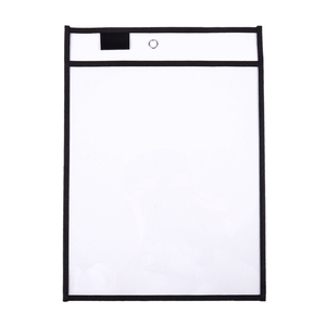 Image 3 - 30 Pack Dry Erase Pockets PVC Transparent Sewn Dry Erase File Bag Reusable Dry Erase Bag