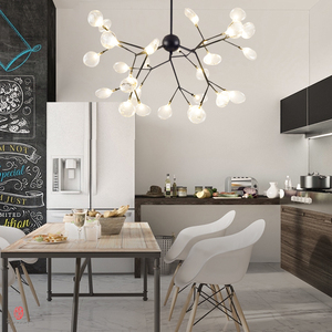Image 2 - Modern Pendant Lamp LED Firefly Branch Tree Decorative Pendant Lighting Fixture Ceiling Lamp Hanging Light G4 Bulbs Included