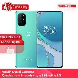 Новая глобальная Встроенная память OnePlus 8 T 8 T смартфон 12 Гб 256 Snapdragon 865 5G 6,55 ''120 Гц активно-матричные осид, Дисплей 48MP Quad Camera 4500 мАч NFC