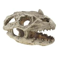 Fish Tank Decoration Resin Dinosaur Skull Model Decorations Tyrannosaurus Rex Cave Landscaping Home Decor