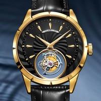 Guanqin Leisure Tourbillon Watch Men Skeleton Mechanical Watch Hot Sale Waterproof Business Watch For Fashion Relogio Masculin