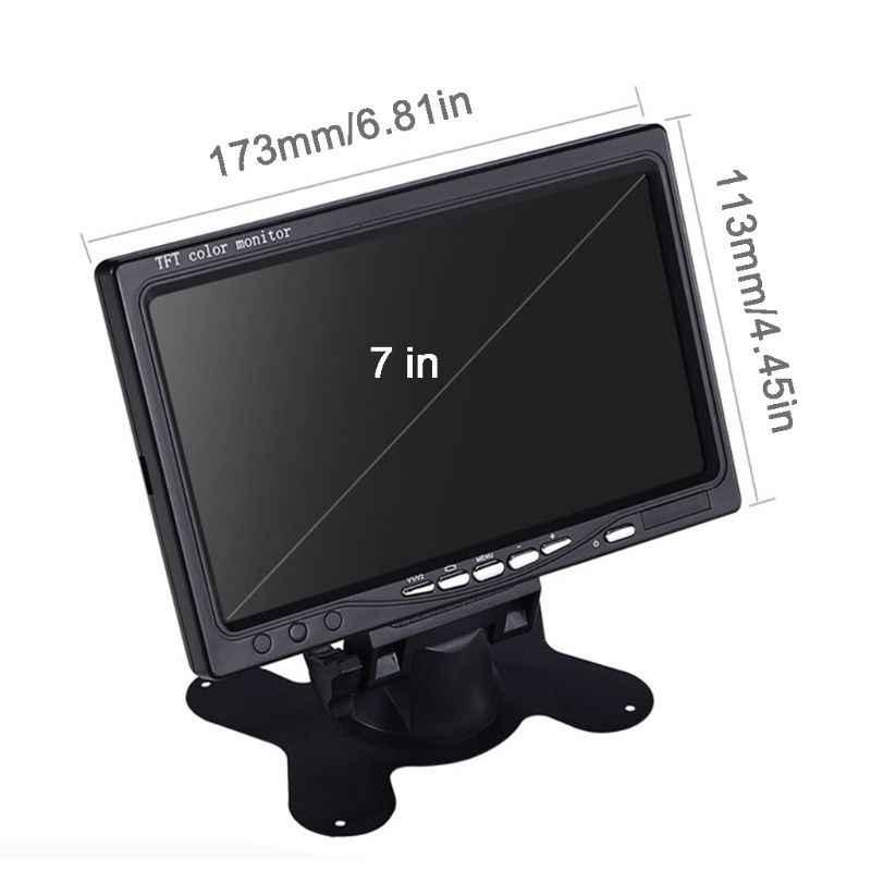 """7 """"TFT lcd цветной HD зеркальный монитор для задний вид автомобиля резервная камера DVD общий Грузовик Автобус Реверсивный дисплей Y4UA"""