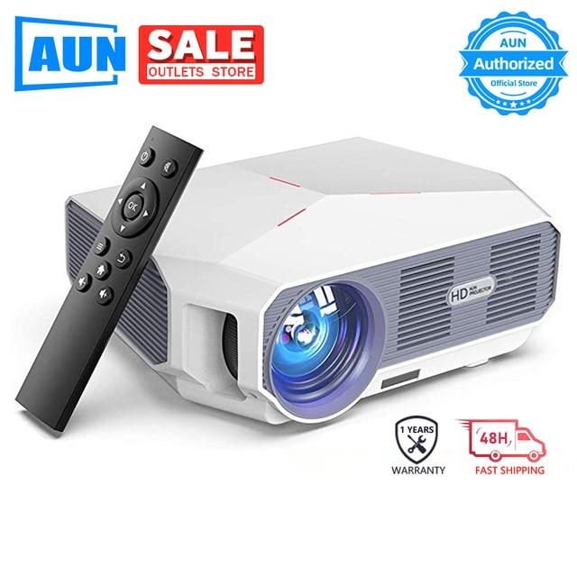 AUN ET10 MINI Projector, 1280x720P HD, Video Beamer. 3800 Lumens Brightness. 3D Cinema. Support 1080P(Optional Android Version)