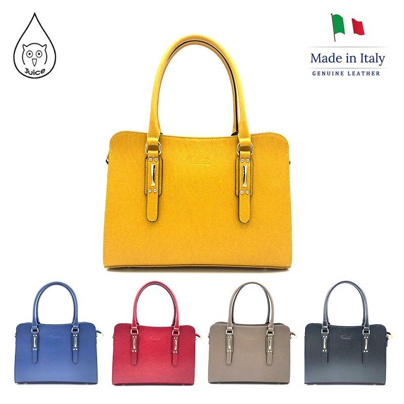 JUICE 2020 Spring,made In Italy, Genuine Leather Bag, Women Bag,Women Handbag,addition Long Shoulder Strap,112082