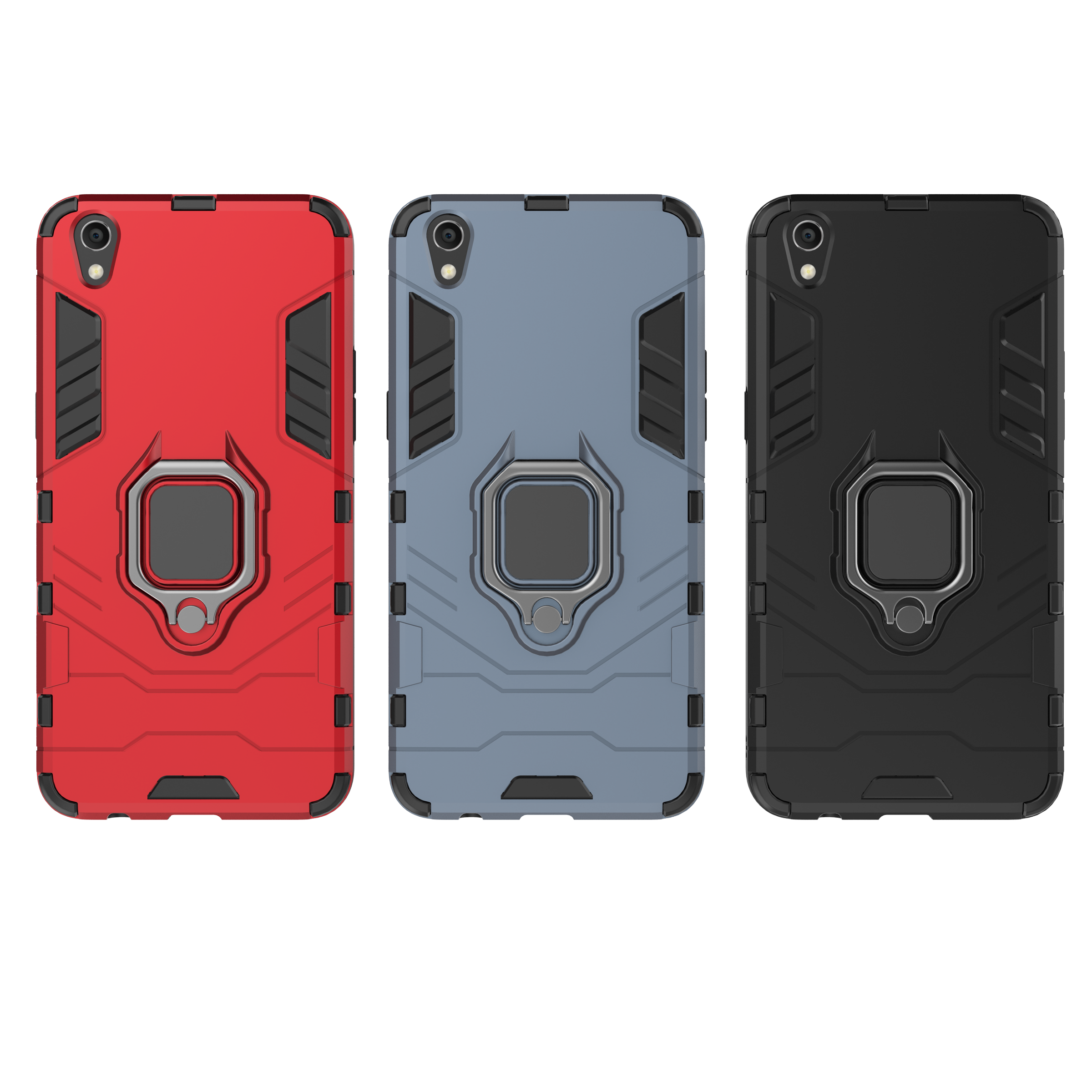 PC Hard Armor Stand Ring Shockproof <font><b>Case</b></font> for <font><b>OPPO</b></font> A39 <font><b>A57</b></font> A5 A3S AX5 R9 R9 Plus R9S R9S Plus R15 R11S R17 R15X K1 F11 F11 Pro image