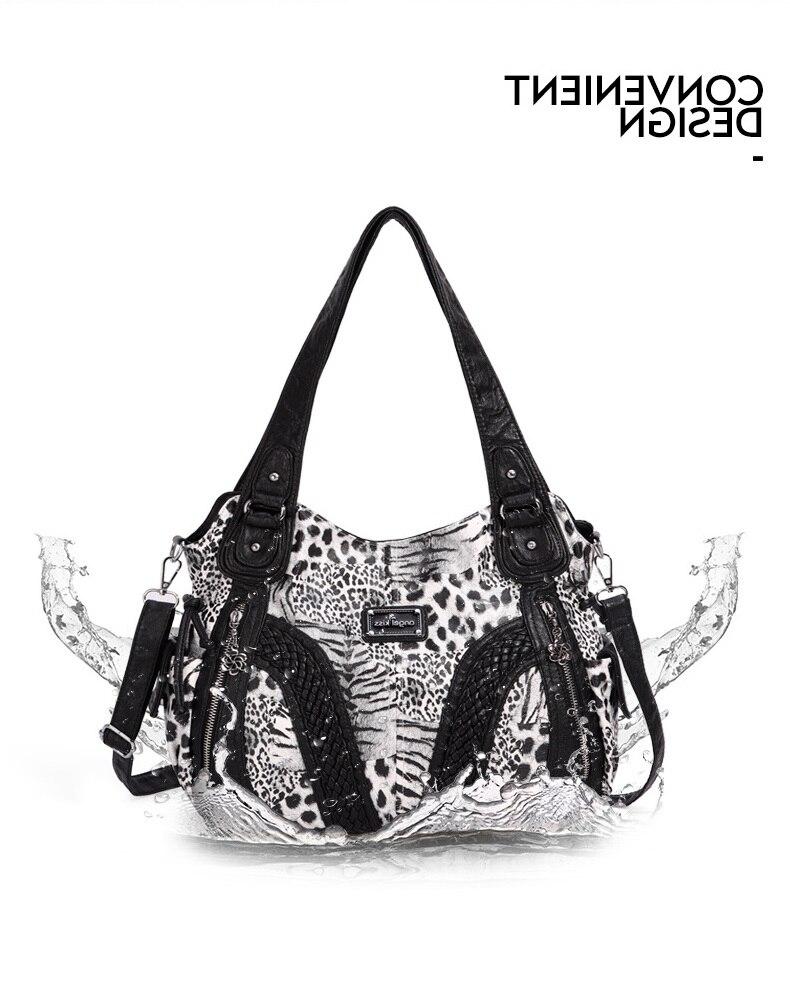 Angelkiss hobo feminina bolsas moda leopardo bolsa