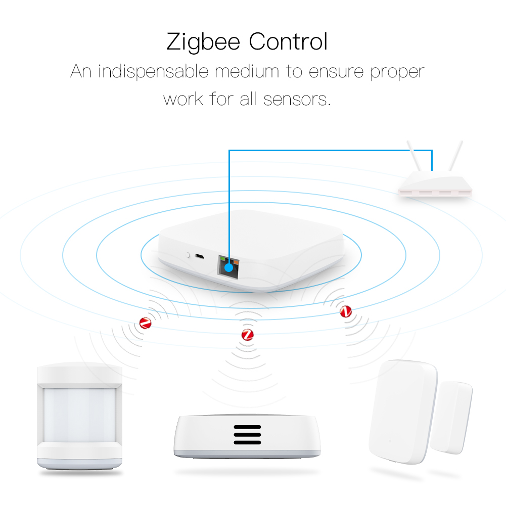 Tuya Smart Zigbee Gateway Hub Home Automation Scene Security Alarm Kit PIR Door&Window Temperature&Humidity Sensor Smart Life
