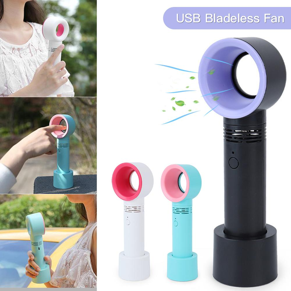 Fan Cooler Bladeless-Fan Usb-Charging Cordless Electric Handheld Portable Mini No-Leaf
