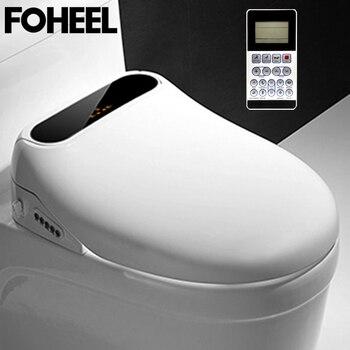 FOHEEL LCD Intelligent Toilet Seat Elongated Electric Bidet Cover Led Light Wc Smart Bidet Heating Sits