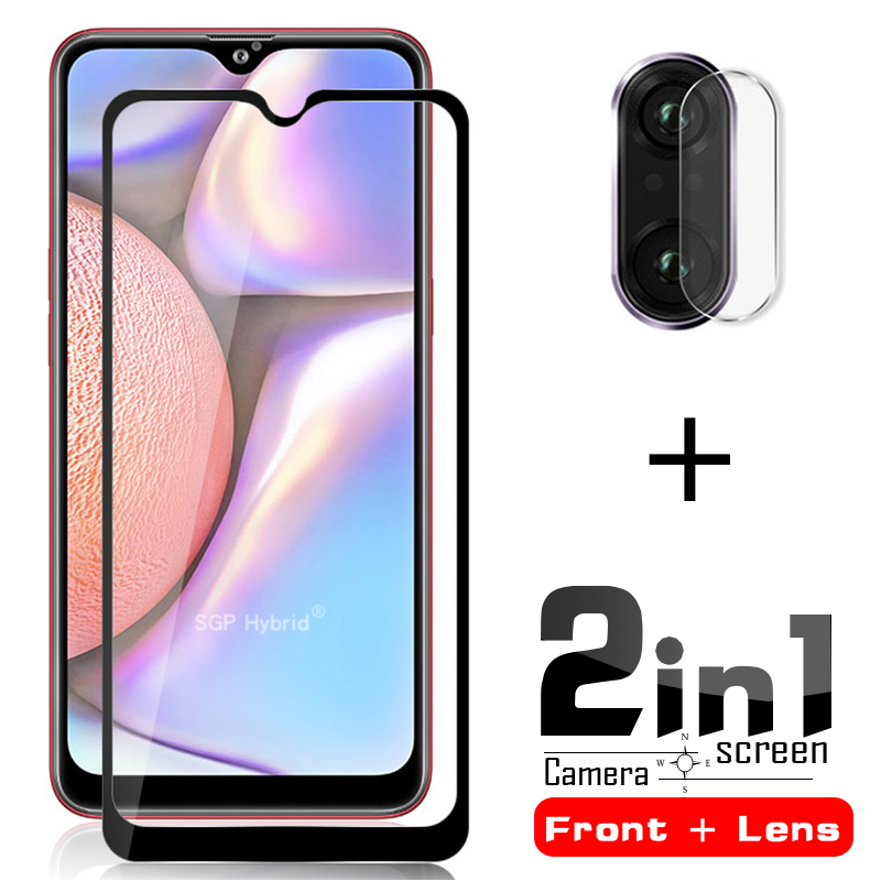 2in1 A10 Screen Protector & Camera Lens Tempered Glass Protector For Samsung Galaxy A10 A 10s 10 S  A10 A10s Protective Glass