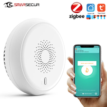 SMARSECUR Zigbee GAS Detector Alarm Detect Natural Leak Combustible Gas Detector Tuya Smart life