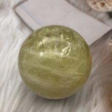 1pcs Natural citrine Crystal sphere yellow quartz gemstone ball Reiki healing
