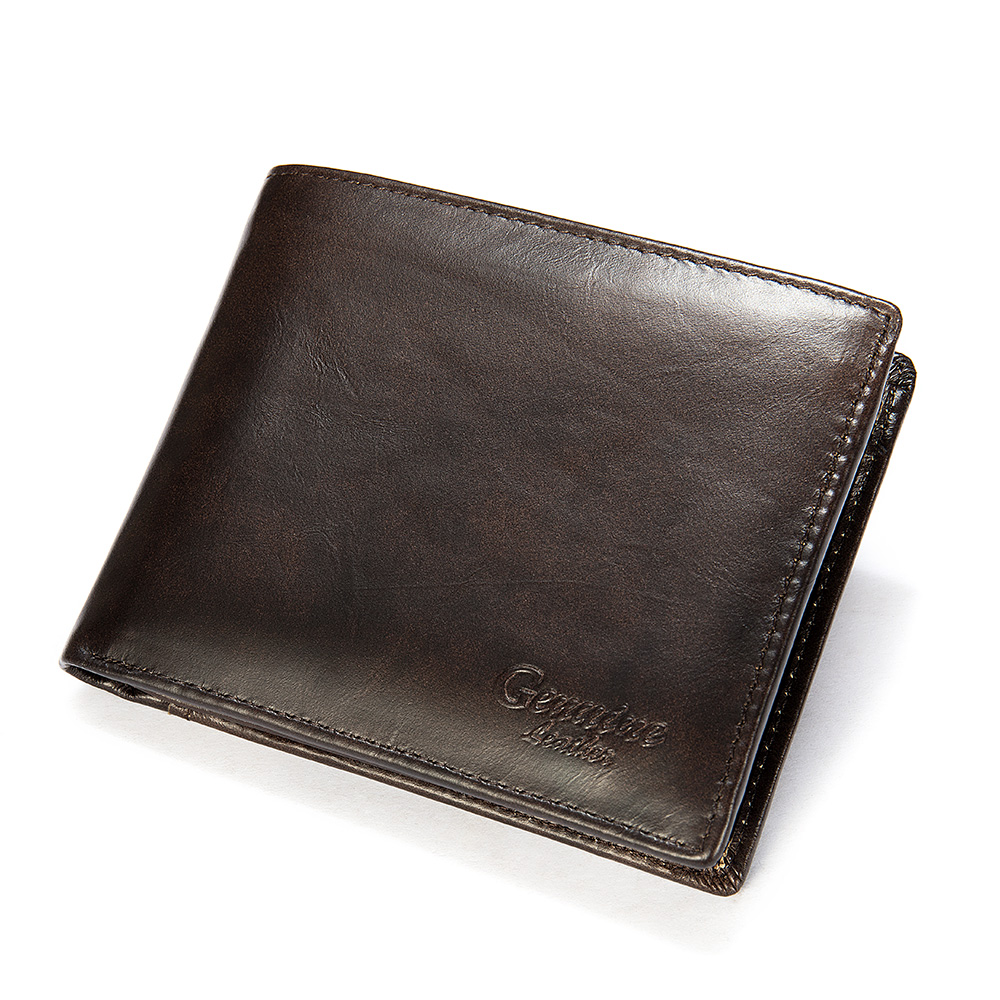Fashion Short Men Wallet Leather Brand Men's Coin Purse Vintage Genuine Leather Credit Card Purse Wallets For Men Money Bag 8866