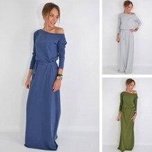 Dress Women Vintage Vestidos Sexy BLK1061 Explosion Solid-Color New