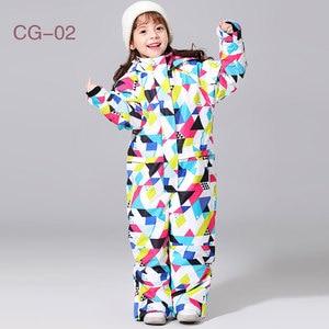 Image 5 - 2019 新スキースーツ少年少女の冬子供防風防水スーパー暖かい雪スキーとスノーボードの服