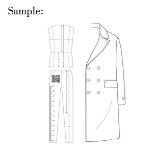 Image 3 - זכר אופנה שליט בגד עיצוב אפקט סגנון גברים ציור תבנית שליט מקורי עיצוב דגם 25cm גובה
