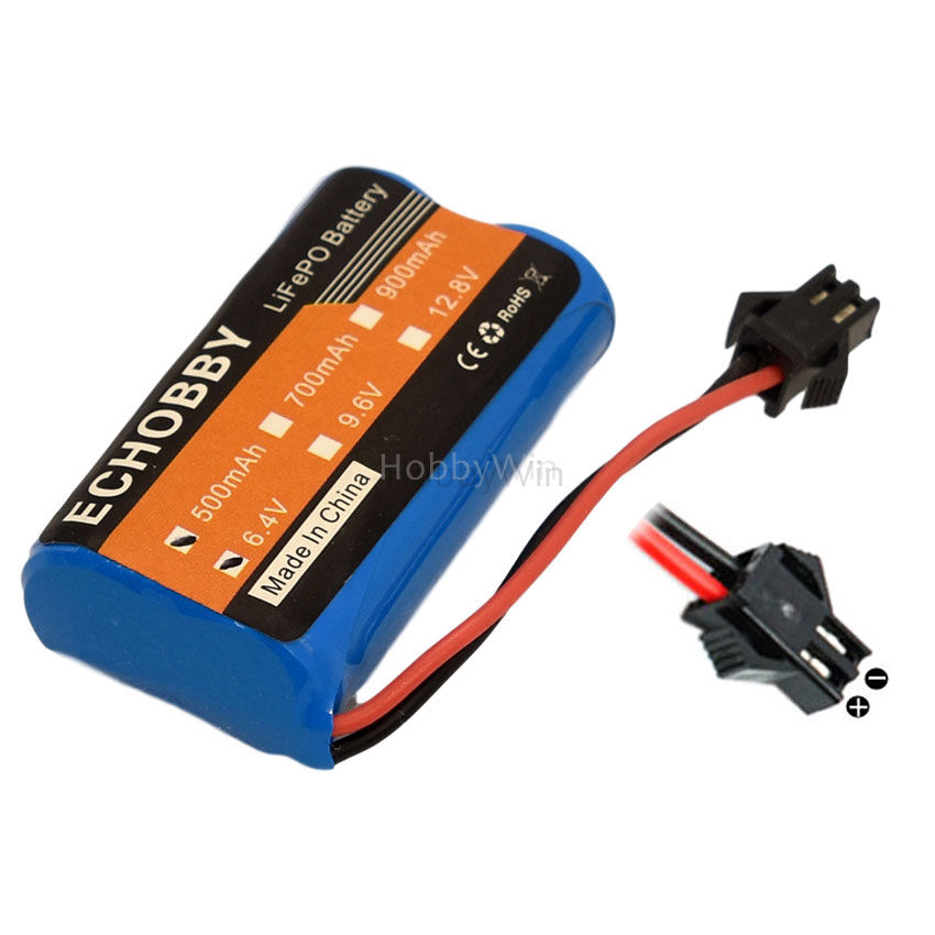 6.4V 2S 500mAh 3.2Wh LiFe Battery SM-2P reverse plug for <font><b>RC</b></font> <font><b>Racing</b></font> <font><b>Car</b></font> Buggy <font><b>Truck</b></font> Speed Boat image
