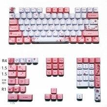 Juego completo de teclas de teclado mecánico, OEM PBT, sublimación, para todas las teclas Sakura