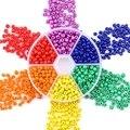 Großhandel 3mm 4mm Mixed Glas SeedBeads Runde Charme Tschechische Perlen Für Schmuck Machen DIY Friesen Arbeit Zubehör 2000 teile/schachtel