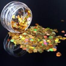 1 boîte or brillant paillettes holographiques paillettes miroitant diamant 12 couleurs oeil brillant peau surligneur visage corps paillettes Festival Ma