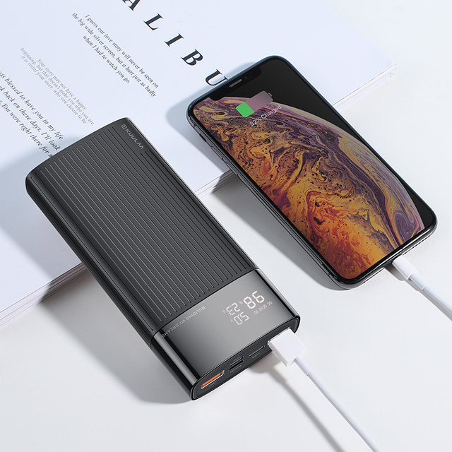 KUULAA Power Bank 20000mAh QC PD 3.0 PoverBank Fast Charging PowerBank 20000 mAh USB External Battery Charger For Xiaomi Mi 10 9 6