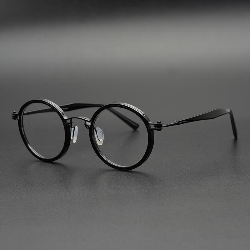 Zerosun Brand Eyeglasses Men Round Glasses Frame Man Janpanese Lennon Nerd Eyewear Tortoise Vintage Spectacles For Prescription