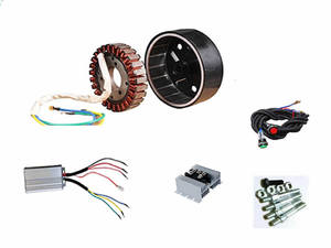 Image 3 - 5000W 27 Pole 48V/60V/72V DC Generator Build Kit(stator,rotor,controller,rectiifer etc.) fits on 19mm tapered 55mm output shaft