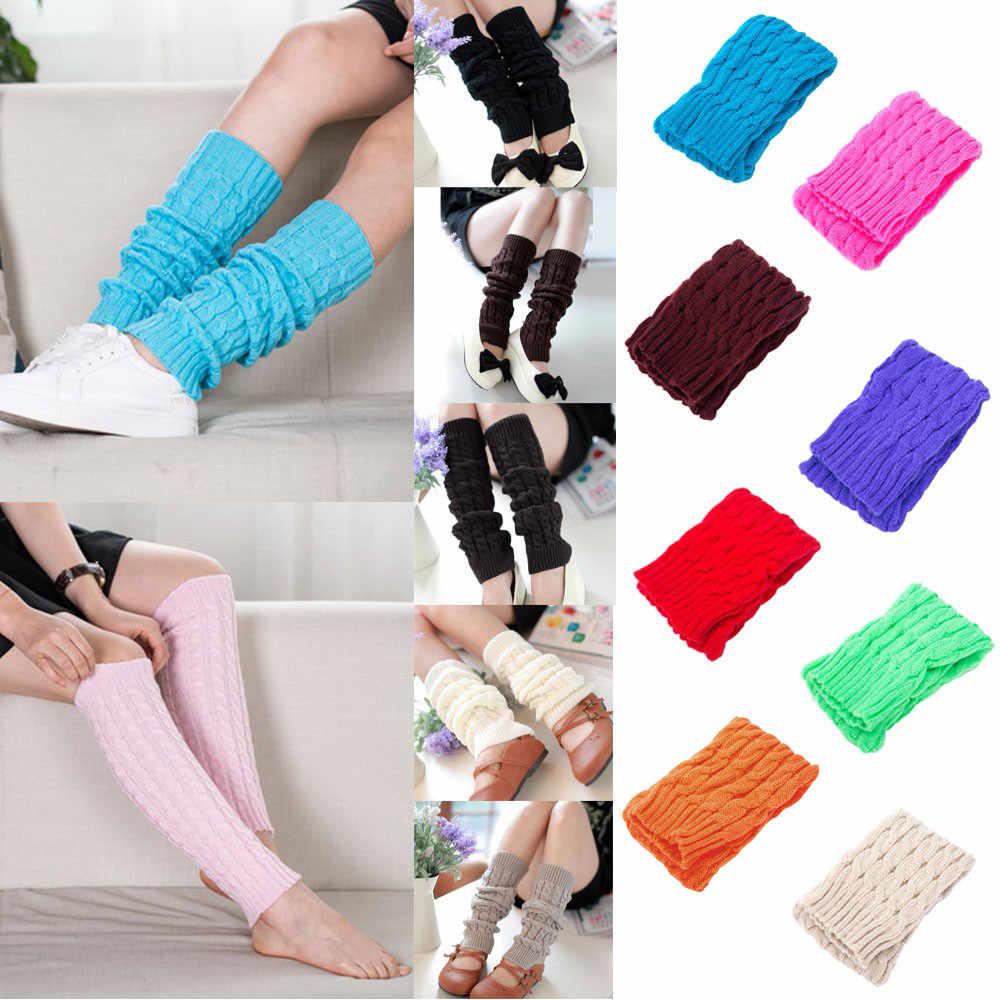 גבוהה באיכות נשים חורף חם רגל מחממי מוצק סרוג סרוג ארוך גרביים גבוהה הברך גרבי 2020 מכירה לוהטת אופנה מתנה # D