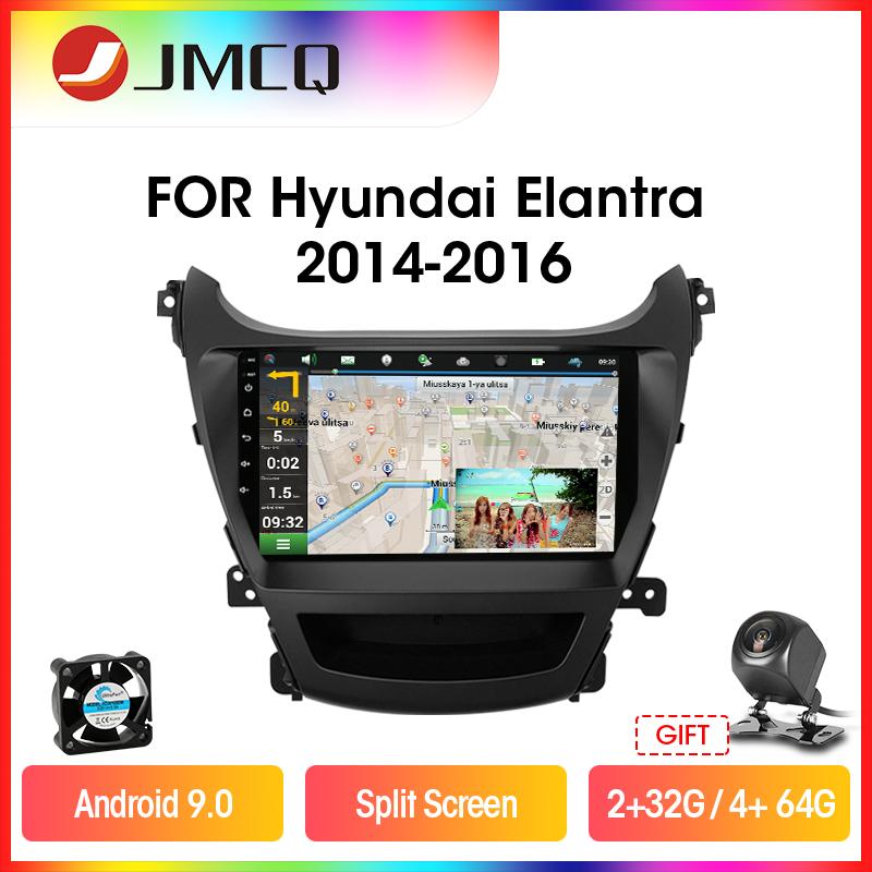 JMCQ 8-ядерный Carplay автомобильный радиоприемник для Hyundai Elantra 2014-2016 Multimidia видео плеер 2 din 4G, Wi-Fi, Android 9,0 4 + 64G Разделение Экран