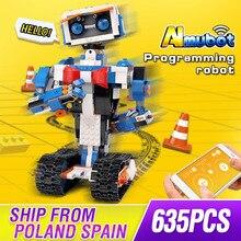 עובש מלך רעיון תכנות אינטליגנטי רובוט Boost צעצועי דגם בניין סט עצמי נעילת לבנים בלוקים לילדים צעצועי יום הולדת מתנות
