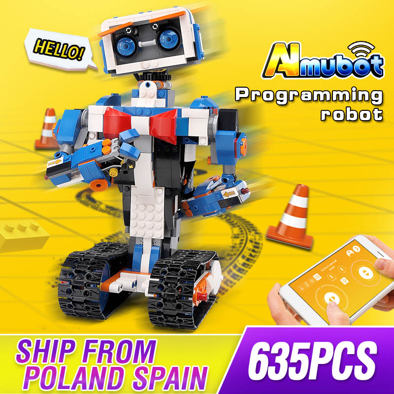 Idea Intelligent Programming Robot Boost WALL E Toys Model Building Set Self Locking Bricks Blocks Educational Toys 17101