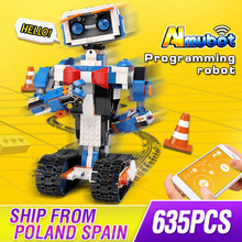 Molde rei idéia de programação inteligente robô impulso brinquedos modelo construção conjunto auto bloqueio tijolos blocos crianças brinquedos presentes aniversário