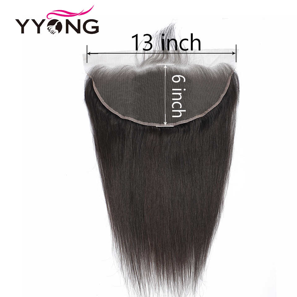 YYong Haar 13x6 Spitze Frontal 3 Bundles Brasilianische Gerade Haar Bundles Mit Frontal Vor Gezupft Ohr Zu Ohr verschluss Remy Haar