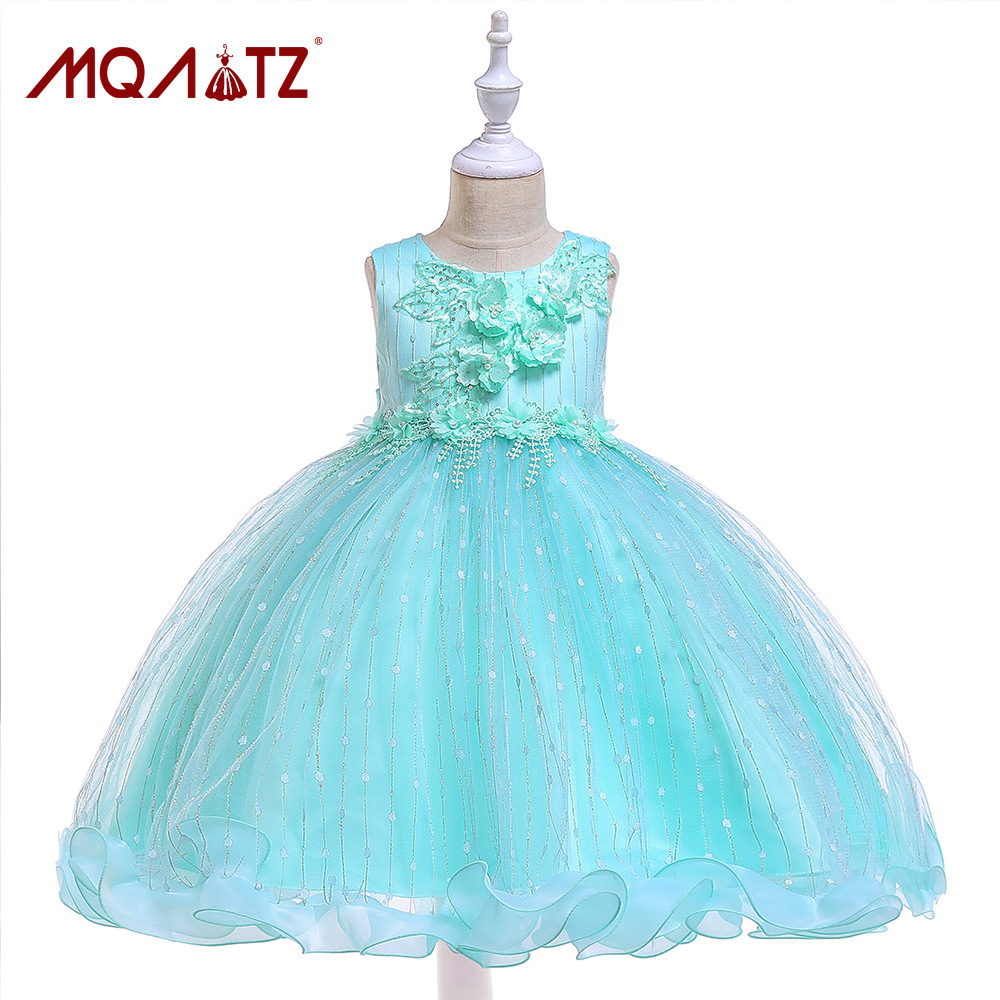 2019 New Style CHILDREN'S Dress Girls Handmade Sequin Puffy Princess Dress 360-Degree Hem CHILDREN'S DAY Performance Clothing