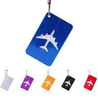 100 stücke Aluminium Legierung Gepäck Tags Gepäck Name Tags Koffer Adresse Label Halter Reise Zubehör taschen fliegen Zubehör