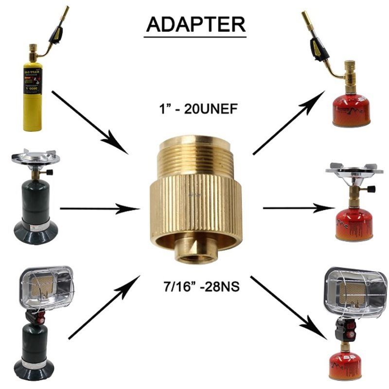 Outdoor Gas Tank Propane Refill Adapter Solid Brass Stove Connector Copper Converter