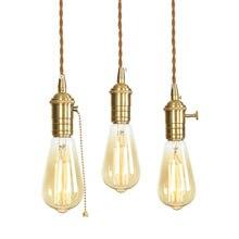 Минимализм светодиодный подвесной светильник регулируемый медный