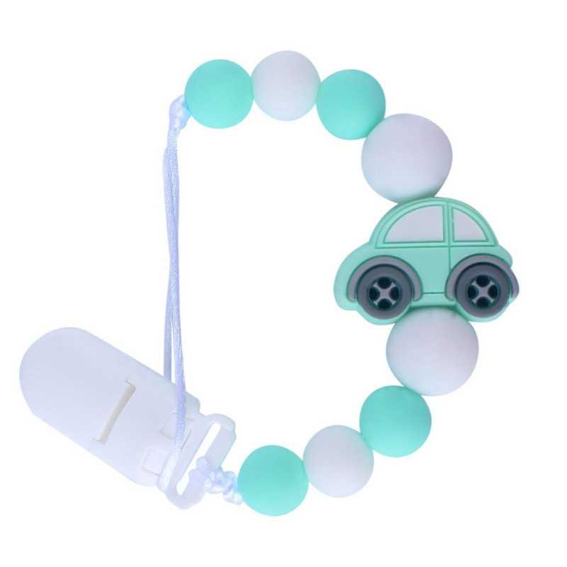 Infant Baby Girls Boys Care Universal Holder Leash For Pacifiers Nipples Clip Chain Baby Cartoon Soother Beaded Chains Teethers