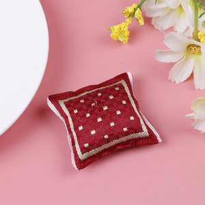 Image 5 - 1:12 Doll house Furniture Dot plaid Flower Chair Sofa with pillow Sweet Furniture for doll house armchair Toys Gift